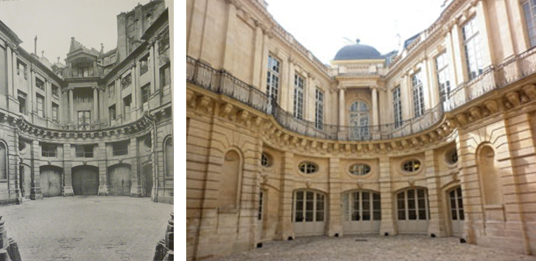 L Hôtel De Beauvais In 1914 And Today After Renovation