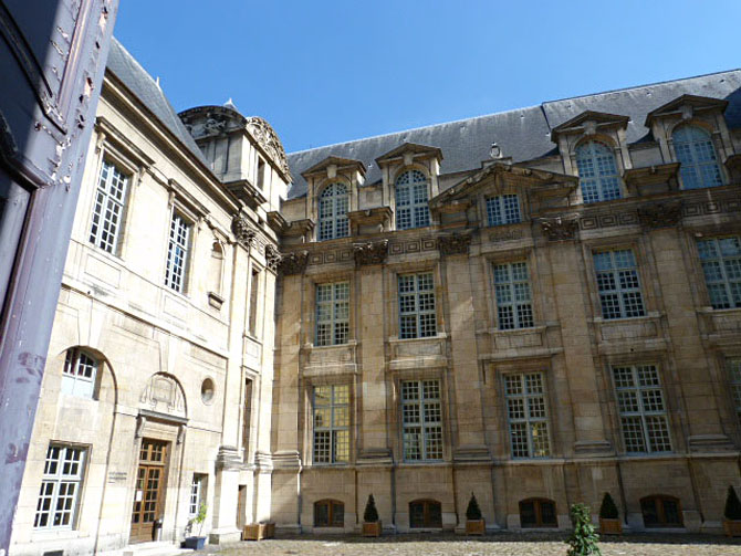 Jardin Lamoignon Le Marais 75004