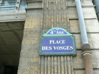 Place des Vosges Le Marais 75004