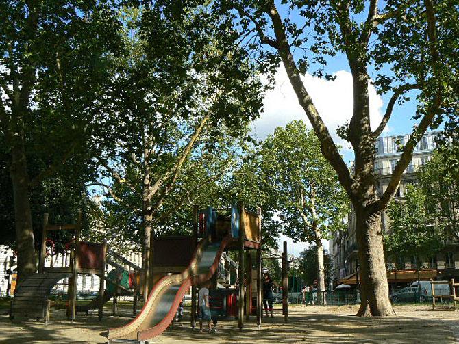Square Henri-Galli Le Marais Paris