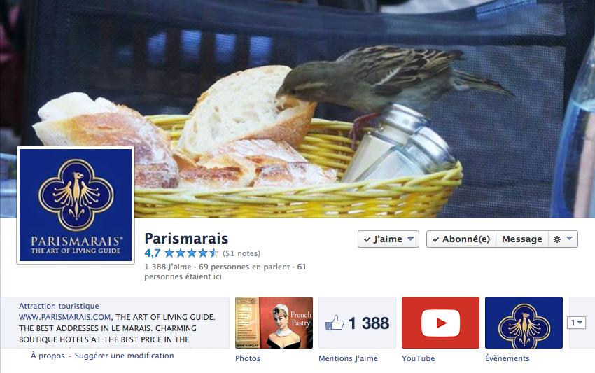 FACEBOOK PARISMARAIS.COM
