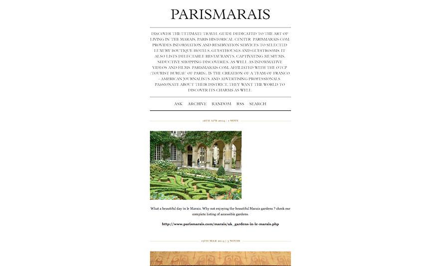 PARISMARAIS.COM TUMBLR