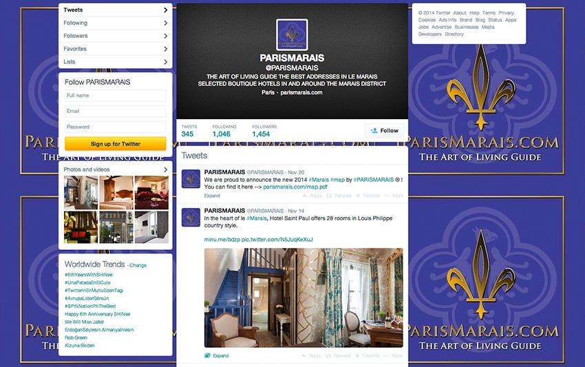 PARISMARAIS.COM TWITTER