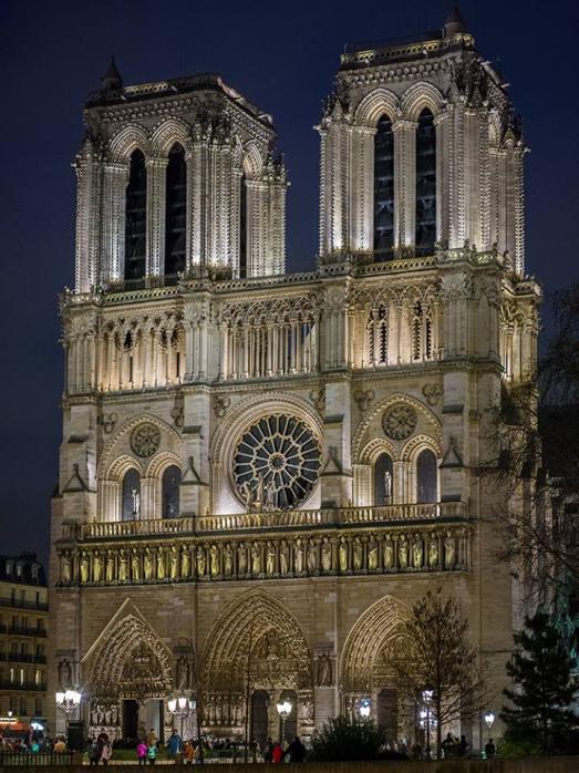 Notre Dame de Paris, the great fire