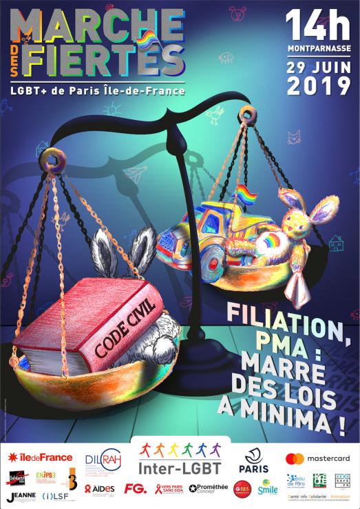 Samedi 29 juin, Gay Pride à Paris 2019, la Marche des Fiertés LGBT