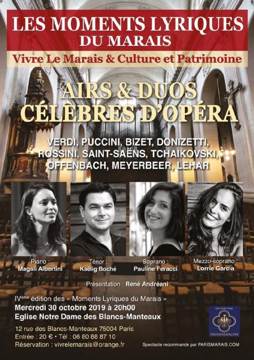 Vive l'Opera ! Saison 4 des moments lyriques du Marais