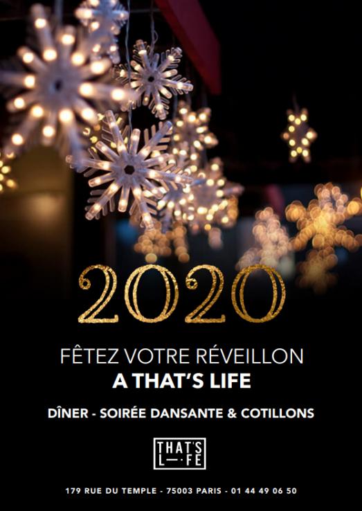 Fêtez votre nouvel an au restaurant That's Life