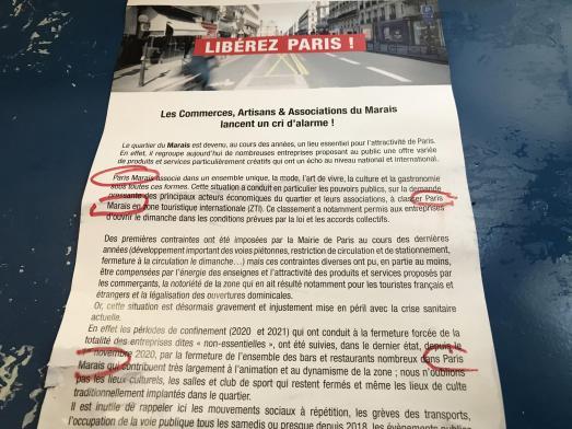 CONFUSION ET RESPECT DES IDENTITES DE MARQUES DANS LE QUARTIER DU MARAIS