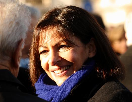 Anne Hidalgo, première femme élue Maire de Paris, fête son premier anniversaire à la tête de la ville Lumière