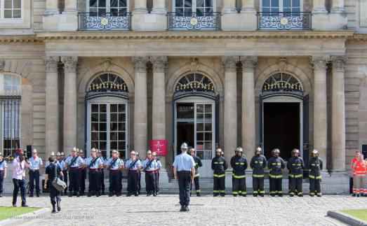 Celebrating Bastille Day with Firemen in Le Marais