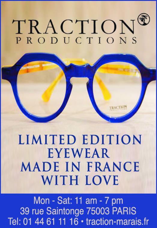 Traction Productions, créateur de lunettes dans le Marais