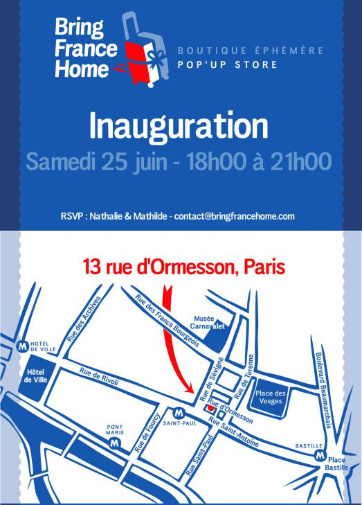 Inauguration Pop'up Store