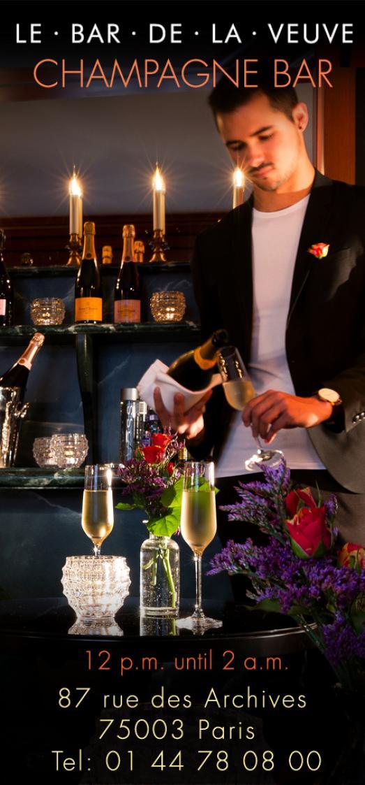 Champagne Time at le Bar de la Veuve