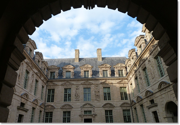 Hotel de Sully, recently renovated, Headquarter of the National Museums of France : Centre des Monuments Nationaux