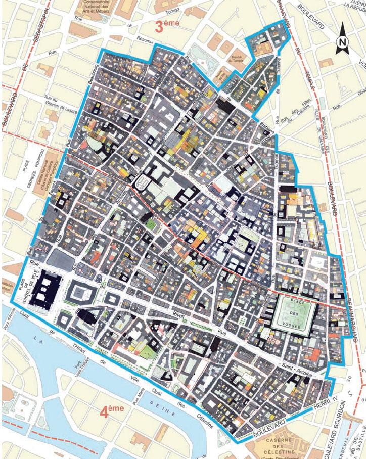 BEST PARIS MARAIS MAP