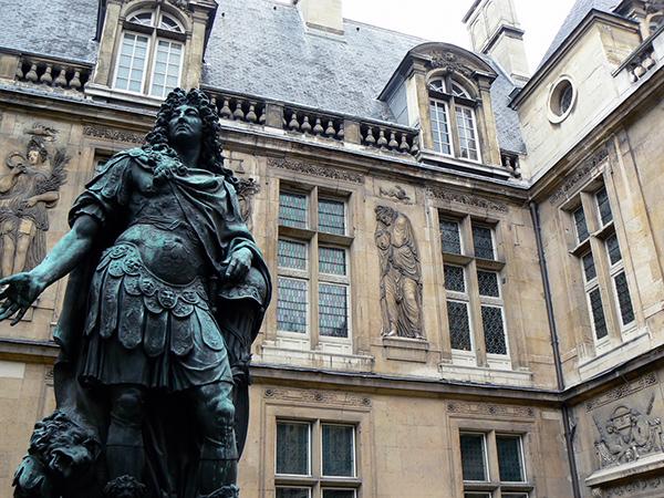 Louis XIV Statue in Carnavalet Museum