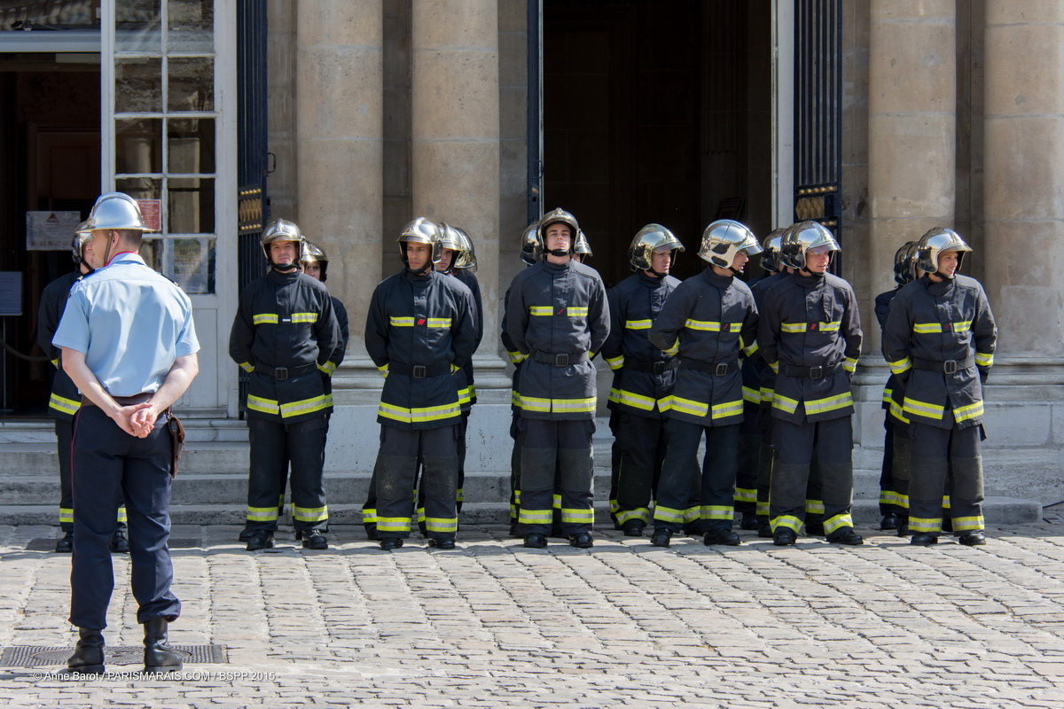 PARISIAN FIREMEN WELCOME YOU TO THE GREATEST OPEN-AIR DANCE FLOOR IN LE MARAIS