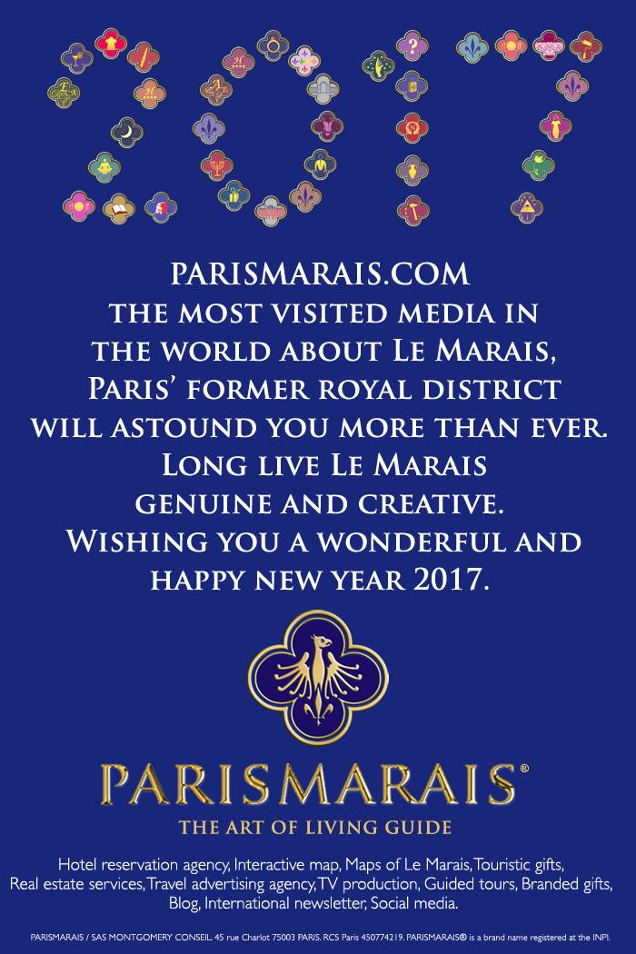 Discover the new 2017 Marais Map by PARISMARAIS