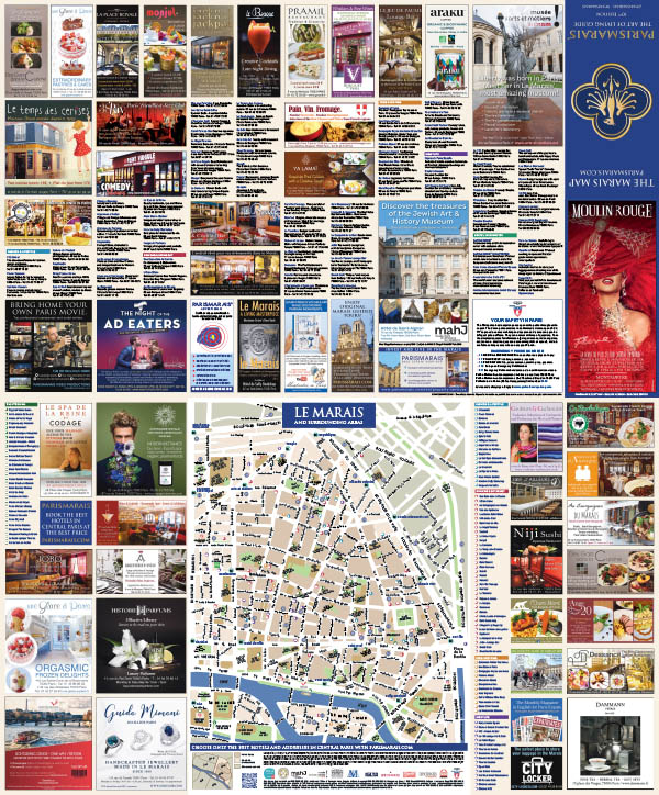 Discover the 10th Edition of the Marais Map
