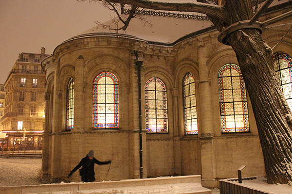 Le Marais under the snow